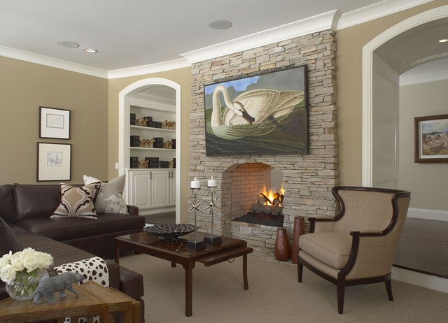 Custom Home Design, Family Room   Traditional   Family Room ...