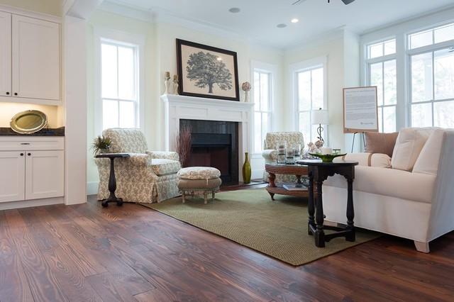 Custom Home Hilton Head - Traditional - Family Room - charleston - by Authentic Pine Floors, Inc.
