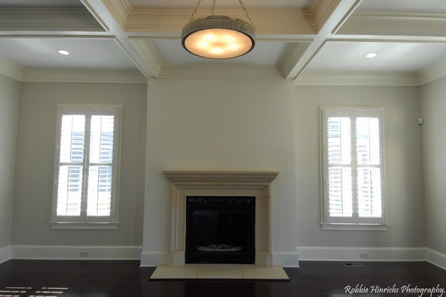 Custom Home in Woodcreek Farms traditional-family-room
