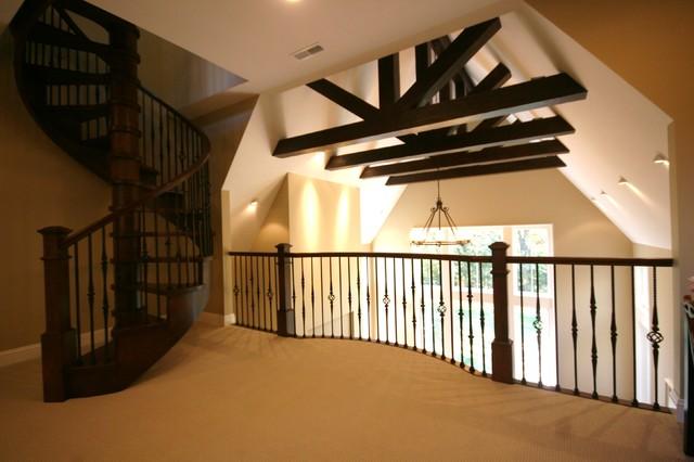 Custom Homes traditional-family-room