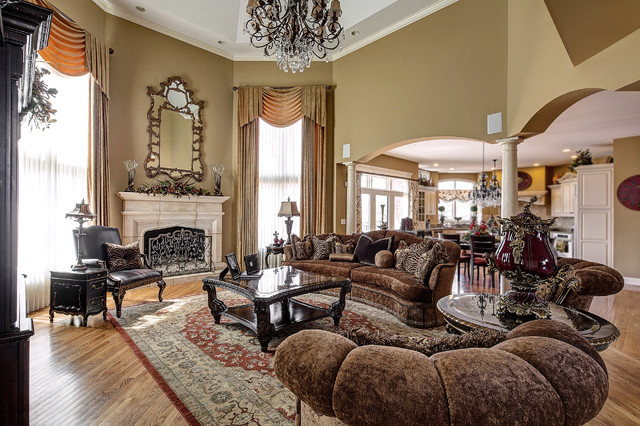Custom Marge Carson Family Room Traditional Family