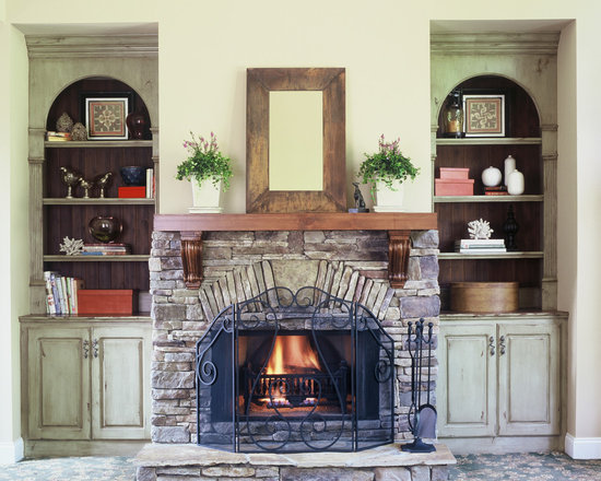 Concrete Fireplace Mantel Shelf Home Design Ideas Pictures Remodel And Decor