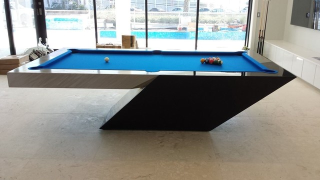 Custom pool table by mitchell exclusive billiard designs contemporary - Billard table design ...