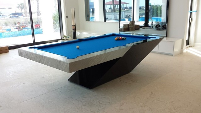 custom pool table by mitchell exclusive billiard designs contemporary home bar other. Black Bedroom Furniture Sets. Home Design Ideas