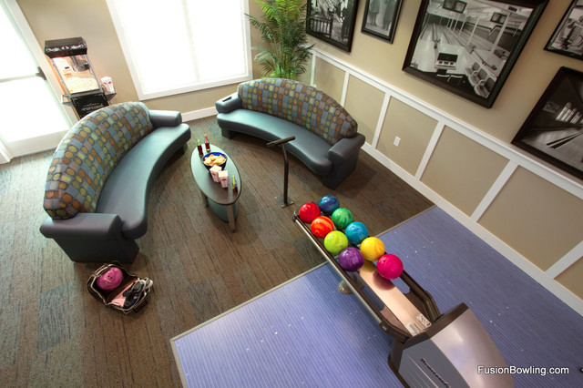 Custom residential bowling alley contemporary-family-room