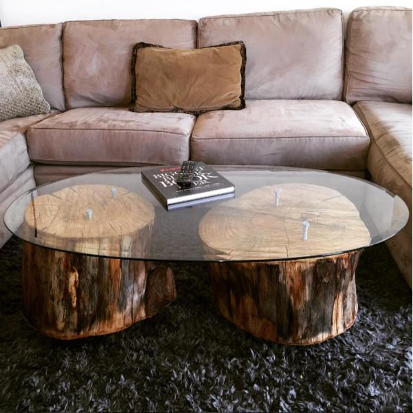 Custom Tree Stump Coffee Table | Brentwood
