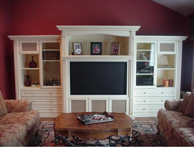 Custom Wall Units Traditional Family Room
