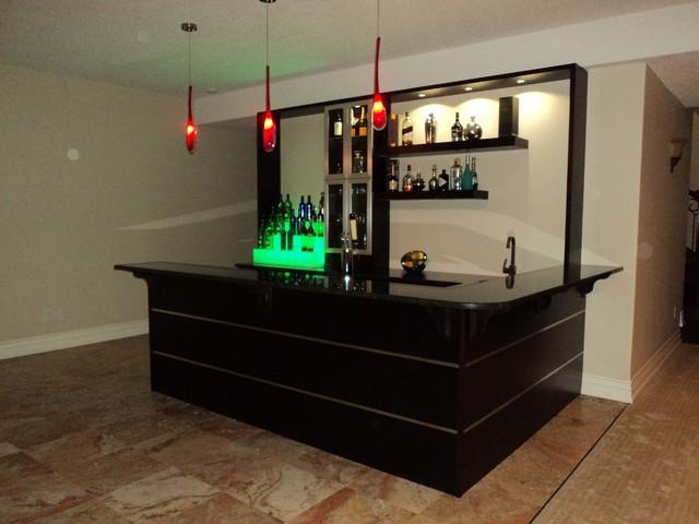 Custom Wet Bar Modern Family Room Toronto By