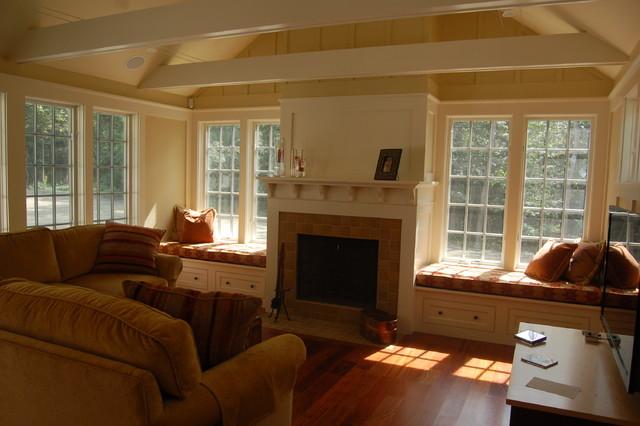 Custom Window Seat Cushions traditional-family-room