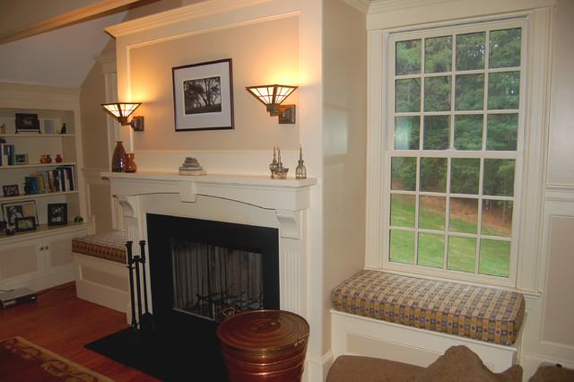 Custom Window Seat Cushions Traditional Family Room