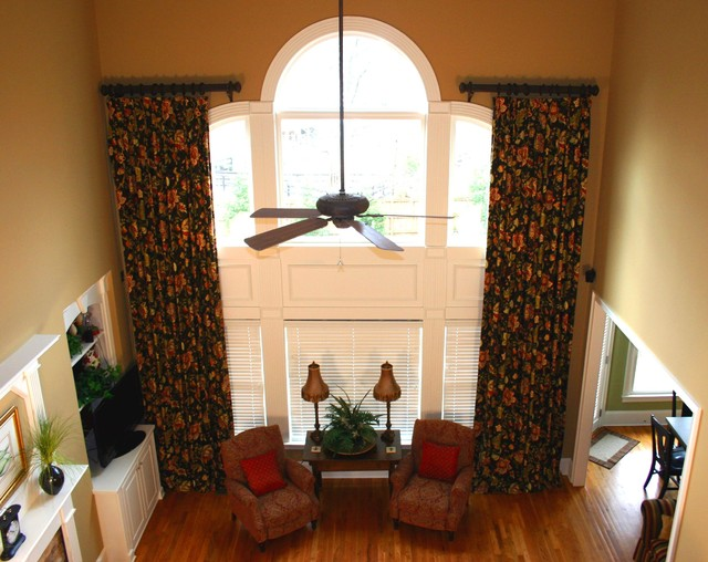 Custom Window Treatments Two Story Traditional Family