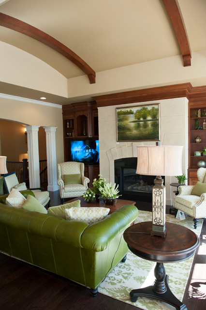 Custom Woodworking traditional-family-room
