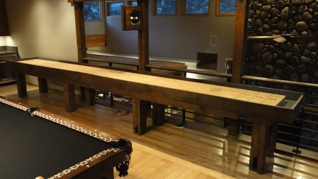 Beau Dakota Shuffleboard Table In Home Traditional Family Room