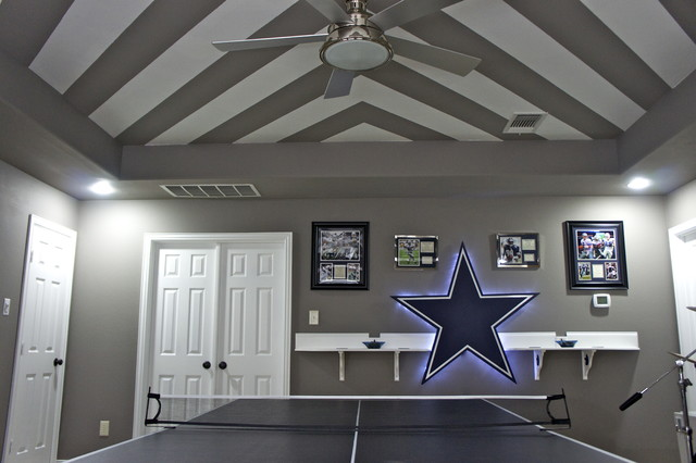 Dallas Cowboys contemporary family room