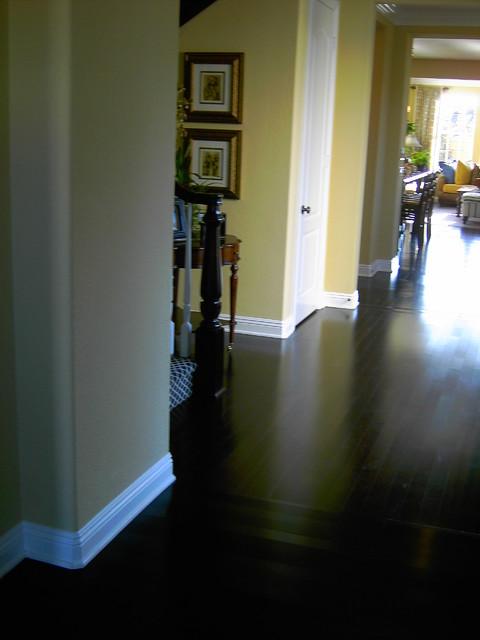 dark hardwood floor designs traditional family room