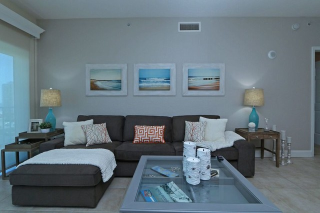 Daytona Beach Shores Getaway Beach Style Family Room Orlando By Pathfinder Group Designs