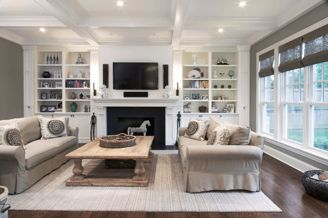 Deerfield Custom Home Transitional Family Room