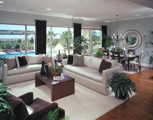 Del Webb Lincoln Hills contemporary family room