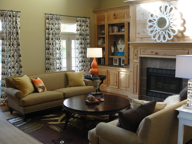 Arkansas Den eclectic family room