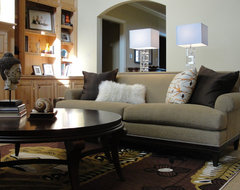 Den eclectic family room