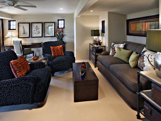 Desert Highlands Residence traditional-family-room