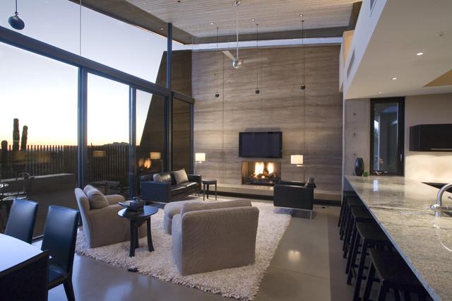 Desert Wing interior contemporary-family-room