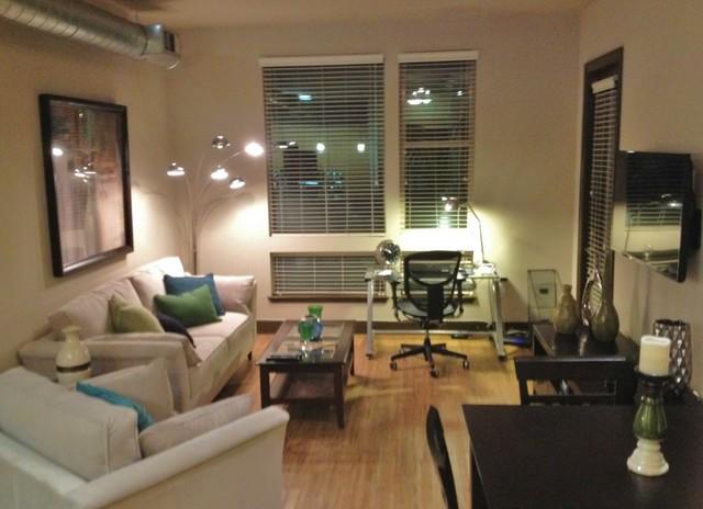 Design On A Dime Contemporary Cozy Apartment Living