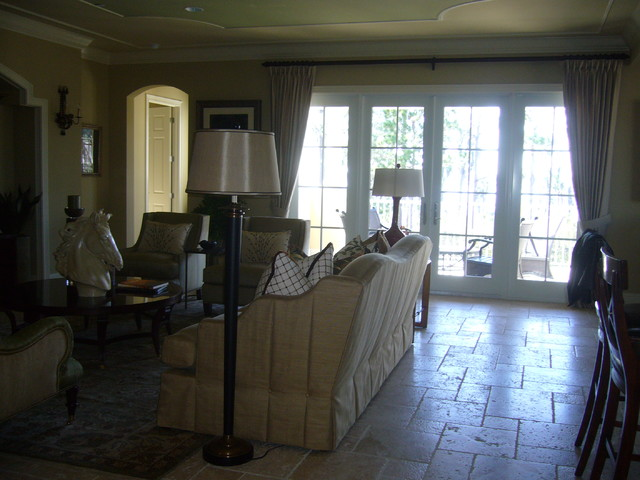 design work and window treatments traditional-family-room