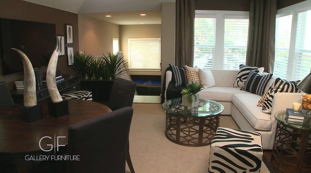 Designed By Gallery Furniture  Austin Home Contemporary Family Room