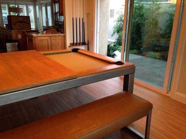 Designer Dining Pool Table Combo Modern Family Room
