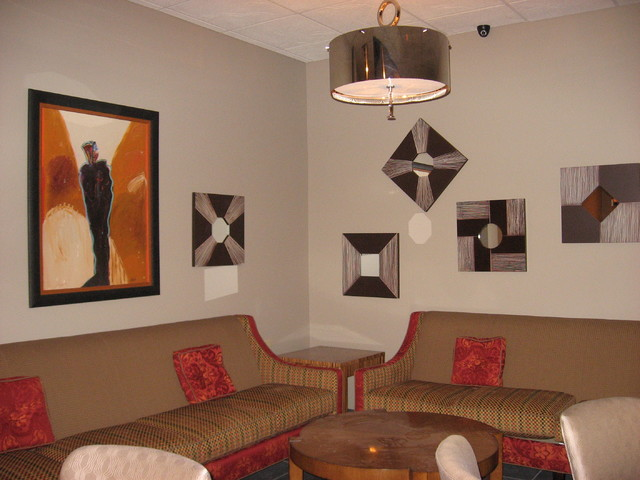 Designs by Mary O'Brien Cabaron contemporary-family-room