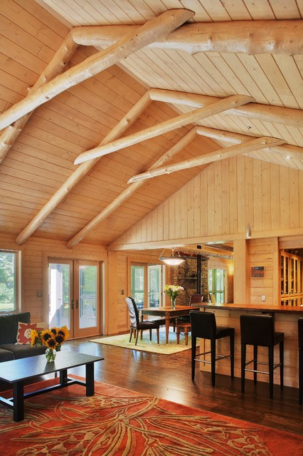 Dexter Log Home Addition And Remodel Traditional
