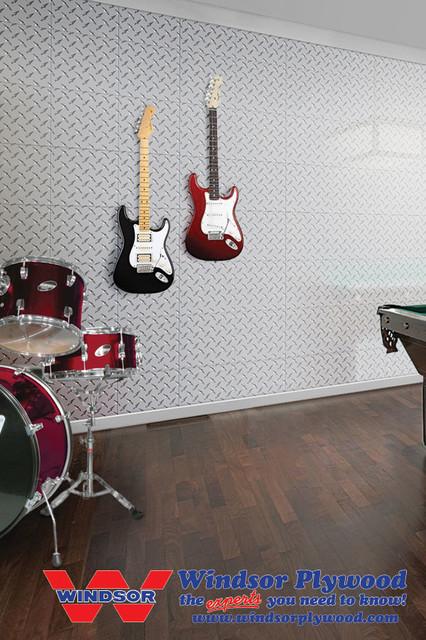 Diamond Tread Aluminum Wall Tiles - Contemporary - Family Room - Other ...