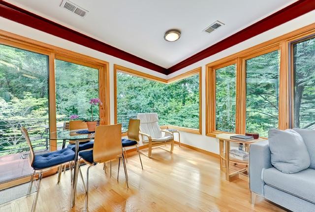 North Arlington Contemporary Addition with Corner Window contemporary-family-room