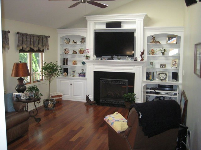 Direct Vent Fireplace With Cambridge Custom Cabinetry