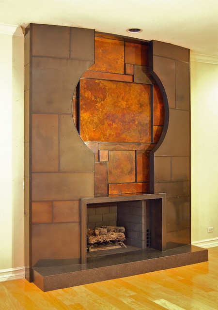 Donner fireplace by Thomas Ramey contemporary-family-room