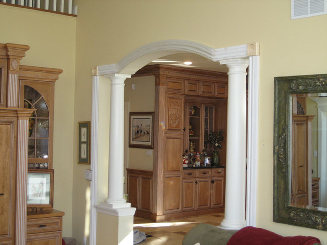 Door surrounds traditional family room new york by for Interior arch designs for house