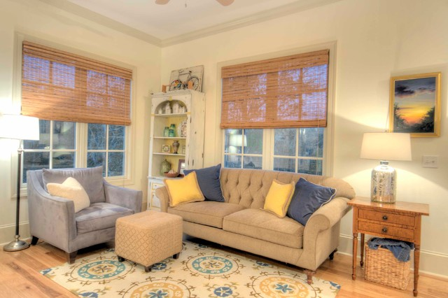 Inspiration for a beach style family room remodel in Jacksonville
