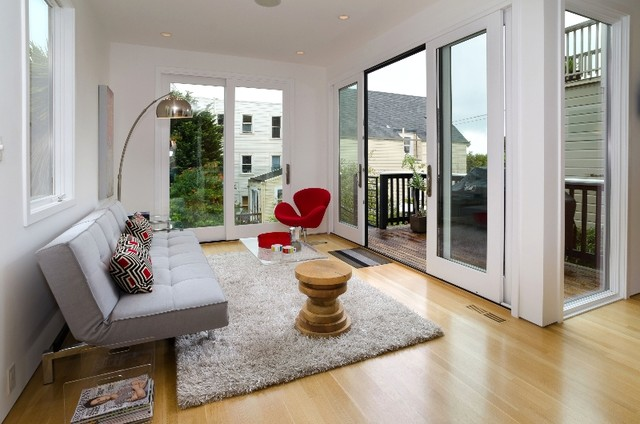 Example of a trendy family room design in San Francisco