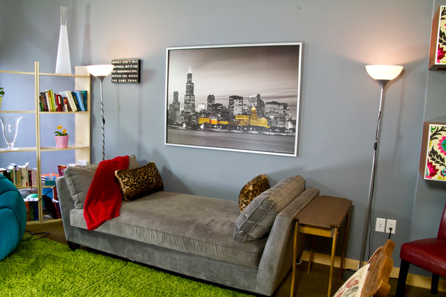Downtown Madison Wi Condo Eclectic Family Room Milwaukee By Dc Interiors Renovations
