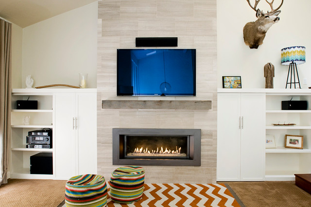 Dramatic Fireplace Makeover - Contemporary - Family Room - San ...