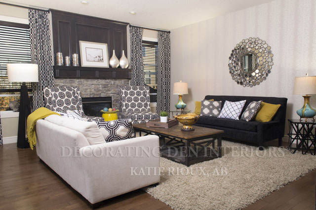 Dream room 2014 contemporary family room for Decorating den interiors