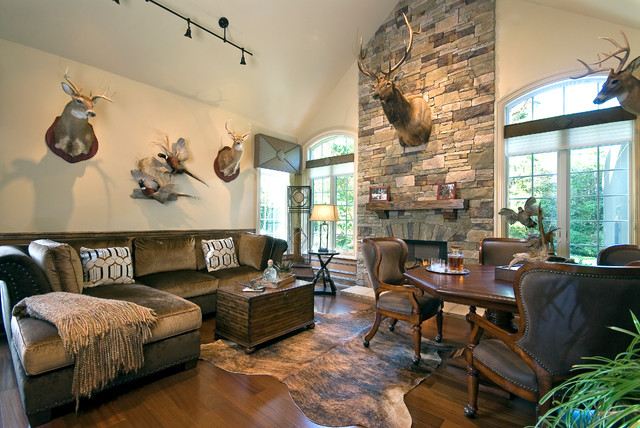 Dream room 2014 rustic family room other metro by for Decorating den interiors