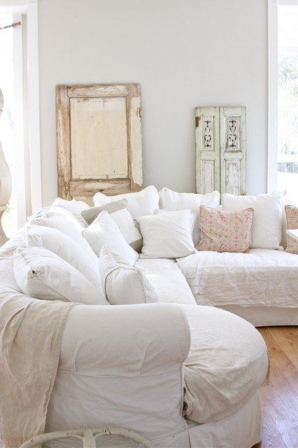Dreamy Whites eclectic family room