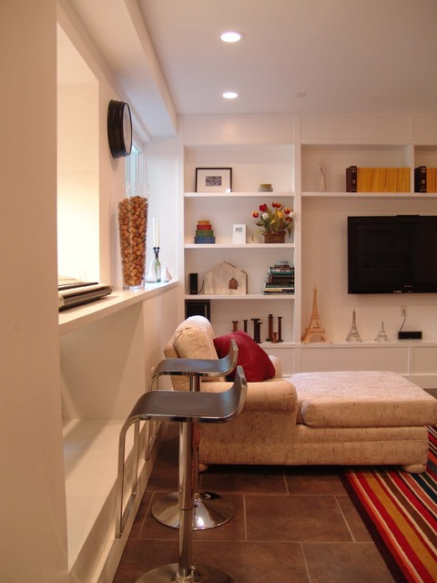 Druid Hills Basement Renovation contemporary-family-room