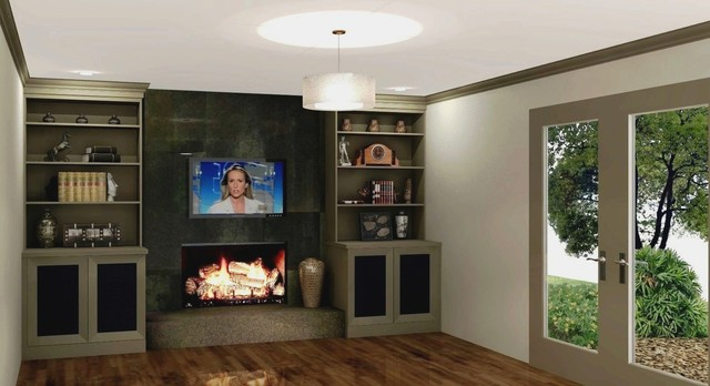 Dunwoody Fireplace amp Builtins Remodel Design