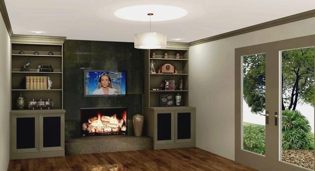 Dunwoody Fireplace builtins remodel design