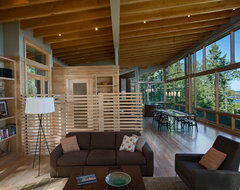Eagle Harbor Cabin modern-family-room