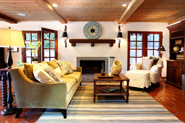 Earlmont House Mediterranean Family Room Los Angeles