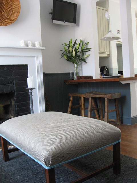 East Sussex Cottage with a modern/country style traditional-family-room